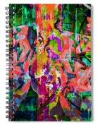 Moscow Burn Graffiti/tony Adamo Spiral Notebook