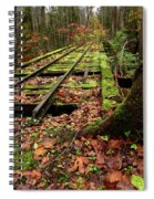 Mossy Train Tracks Spiral Notebook