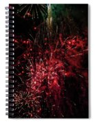 Mostly Red And White Fireworks Spiral Notebook