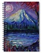 Mount Fuji - Textural Impressionist Palette Knife Impasto Oil Painting Mona Edulesco Spiral Notebook