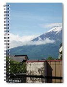 Mount Fuyji From A Distance With Clouds Around It Spiral Notebook