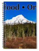 Mount Hood Oregon In Winter 01 Spiral Notebook