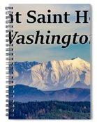 Mount Saint Helens Washington Spiral Notebook