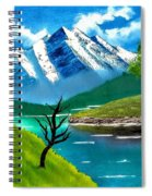 Mountain By The Lake Spiral Notebook