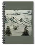 Mountain Foggy Dawn - In Abstract Realism Spiral Notebook