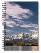 Mountain Range At Sunset Seen From Rio Spiral Notebook