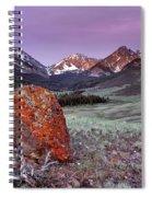 Mountain Textures And Light Spiral Notebook
