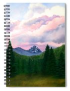 Mountain And Sky Spiral Notebook