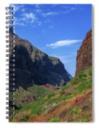 Mountains Of The Teno Massif Near Masca Spiral Notebook