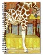 Ms Kitty And Her Giraffe  Spiral Notebook