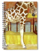 Ms Kitty And Her Giraffe  Spiral Notebook