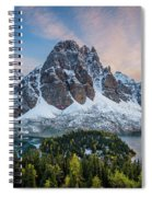Mt Assinniboine Sunset Spiral Notebook