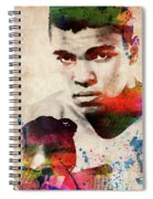 Muhammad Ali Watercolor Portrait Spiral Notebook