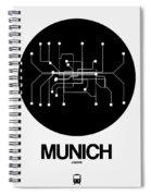 Munich Black Subway Map Spiral Notebook