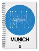 Munich Blue Subway Map Spiral Notebook