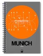 Munich Orange Subway Map Spiral Notebook