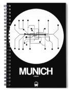 Munich White Subway Map Spiral Notebook