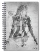 Music Was My First Love In Black And White Spiral Notebook