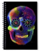 Mystico Sugarskull Of Letters Spiral Notebook