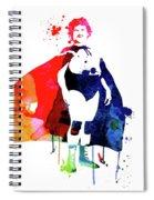 Nacho Watercolor Spiral Notebook