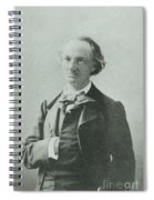 Nadar Portrait Of Charles Baudelaire Spiral Notebook