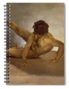 Naked Man Reversed On The Ground Spiral Notebook