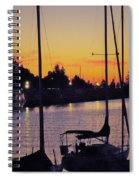 Narrow Sunset Spiral Notebook