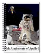 Nasa 50th Anniversary Of The Apollo 11 Lunar Landing By Artist Todd Krasovetz Spiral Notebook