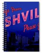 Nashville Postcard Spiral Notebook