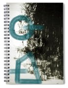 Natural Reflections With Blue Shapes Spiral Notebook