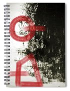 Natural Reflections With Red Shapes Spiral Notebook