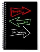Naughty Nice Humbug Funny Xmas Christmas Costume Spiral Notebook