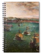 Naval Battle In The Gulf Of Naples Spiral Notebook