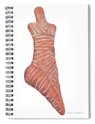 Neolithic Venus Mother Goddess Spiral Notebook