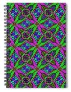 Neon Diamond Pattern Spiral Notebook