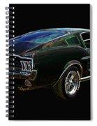 Neon Mustang Fastback 1967 Spiral Notebook
