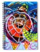 Neon Sea Turtle Wake And Drag Spiral Notebook