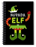 Nevada Elf Xmas Elf Santa Helper Christmas Spiral Notebook