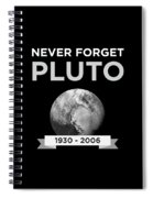 Never Forget Pluto Planet 19302006 Universe Spiral Notebook