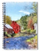 New Boston New Hampshire Watercolor Spiral Notebook