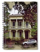 New Orleans Home In Watercolor Spiral Notebook