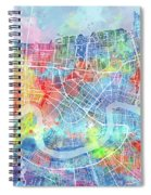 New Orleans Map Watercolor Spiral Notebook