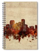 New Orleans Skyline Sepia Spiral Notebook