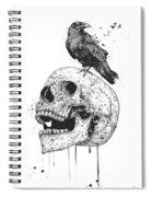 New Skull Spiral Notebook