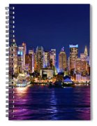 New York City Nyc Midtown Manhattan At Night Spiral Notebook