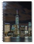 New York City Skyline At Night Spiral Notebook