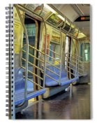 New York City Empty Subway Car Spiral Notebook