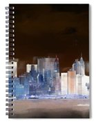 New York Skyline Illustration 1 Spiral Notebook