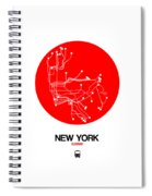 New York Red Subway Map Spiral Notebook