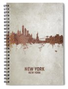 New York Rust Skyline Spiral Notebook